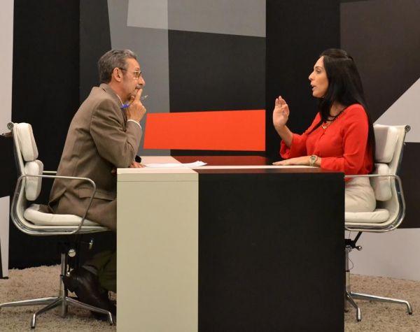 Deputada Geovânia de Sá grava em Criciúma programa 'Onde o Povo Está' da TV Câmara